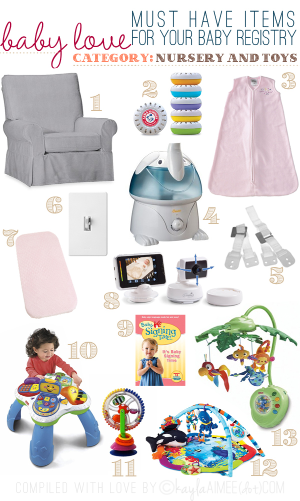 Baby Registry Must Haves Nursery Mom S Checklist