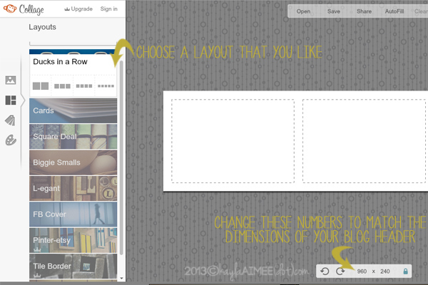 How To Create A Blog Header In PicMonkey, How To Add A Header To Your Blog, How To Design A Blog Header, How To Design A Blog Banner, How To Add A Header To Wordpress, Bling out your blog,