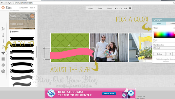 How To Design A Blog Header In PicMonkey, How To Add A Header To Your Blog, How To Design A Blog Header, How To Design A Blog Banner, How To Add A Header To Wordpress, Bling out your blog,
